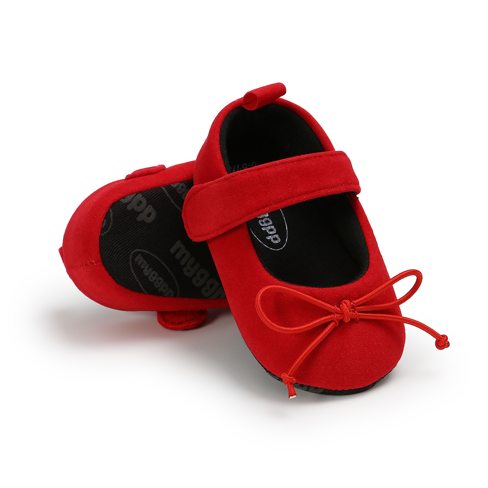 Infant Baby Girl Shoes Bowknot Anti-Slip Soft Sole Hook First Walkers Toddler Infant Baby Girl Kids Shoes 0-18M New Arrival