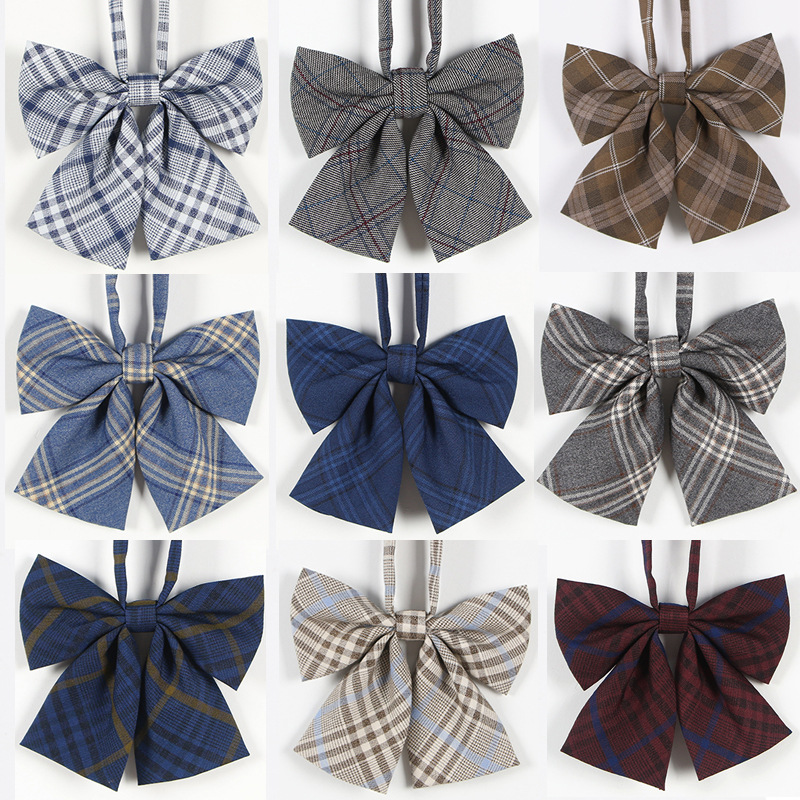Jk Uniforms Collar Butterfly Cravat School Dresses For Girl Plaid Bow Tie Lady Anime Sailor Suit Striped Tie High School Student