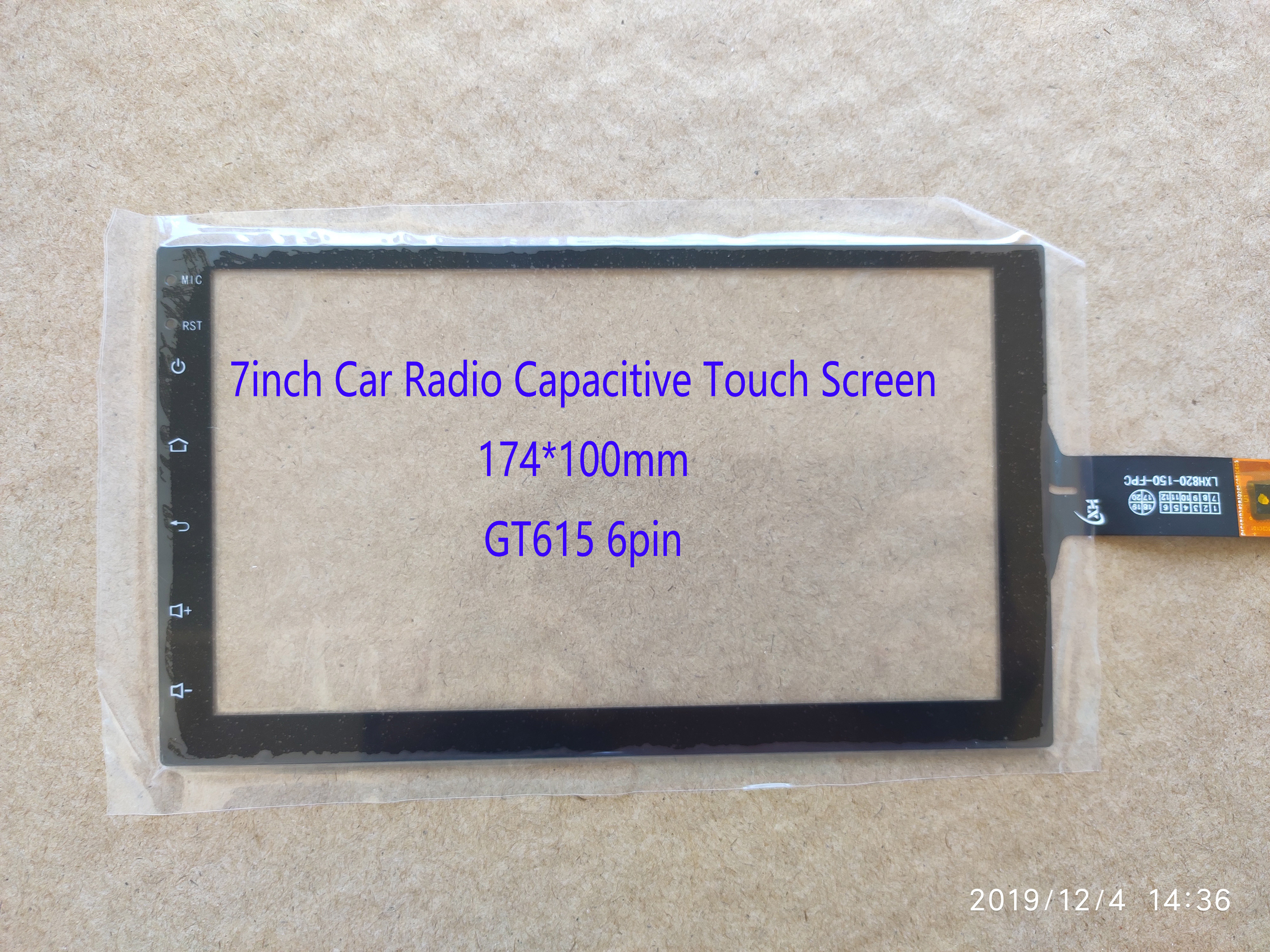 7inch Car Radio Carpc  Capacitive Touch Screen 174*100mm 6pin GT615 LXH820-150-FPC