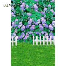 Laeacco Baby Shower Photophone Grassland Flowers Leaves Lattice Photography Backgrounds Photographic Backdrops For Photo Studio