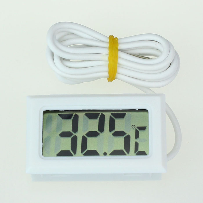 Digital-Thermometer High-Temperature With Probe-Celsius 1meter Molded-Case Ouhaobin Lcd-Display
