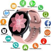 Reloj inteligente deportivo para hombre y mujer, pulsera con Bluetooth, resistente al agua, monitor de salud y reproductor de música, 2021
