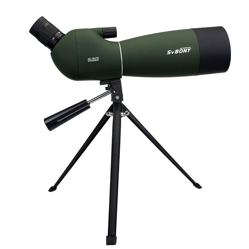 SVBONY SV28 50/60/70mm 3 סוגים אכון היקף עמיד למים זום טלסקופ + חצובה רך מקרה עבור צפרות יעד חץ וקשת F9308Z