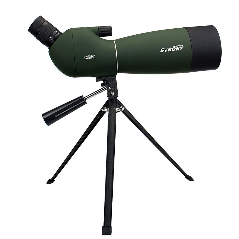 Svbony sv28 50/60/70mm 3 tipos spotting escopo telescópio zoom à prova dwaterproof água + tripé caso macio para birdwatching alvo tiro com arco f9308z