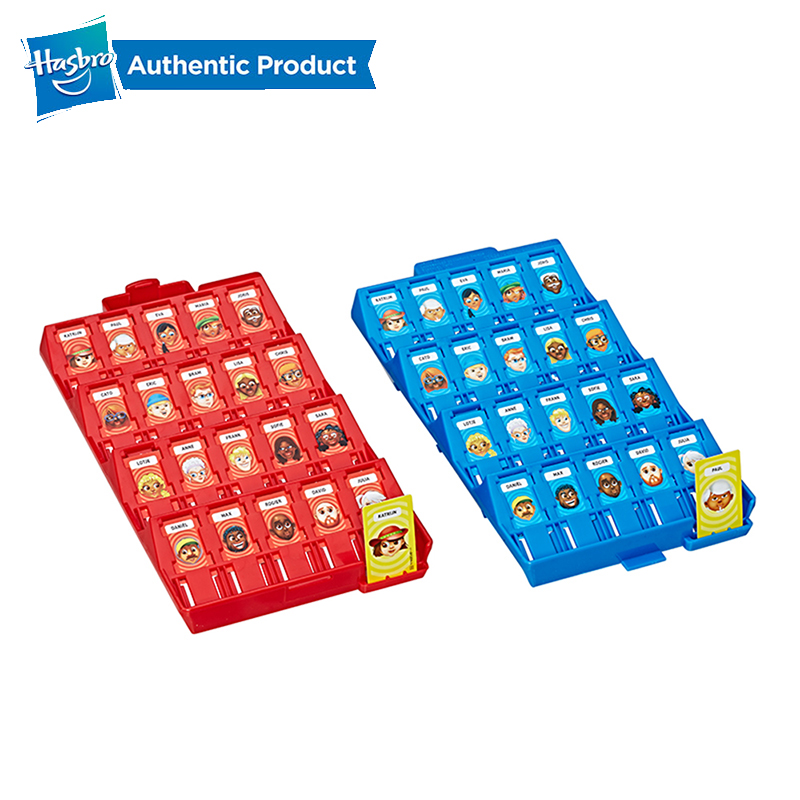 Hasbro Gaming Guess Who Grab And Go Game Puzzle Game Assembly Toy Gift For Children Teens Adult Party Family Game