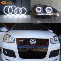 For Volkswagen VW Golf Rabbit Jetta GTI R32 MKV MK5 2005 2010 xenon headlight Ultra bright illumination smd led Angel Eyes kit