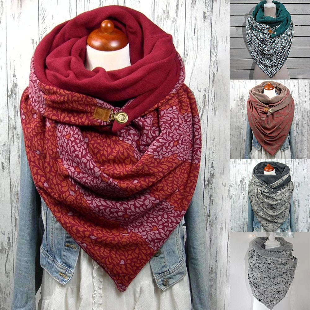 Winter Scarf Shawl Fashion Korean Men Women Hooded Warm Splicing Printing Scarves Wraps Cotton Windproof Comfortable Pashmina