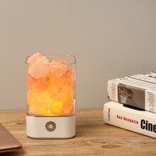 цена на Himalayan Crystal Salt Lamp USB Led Lamp Air Purifier Mood Creator Night LightIndoor Warm Light Table Lamp Bedroom Lava Lamp New