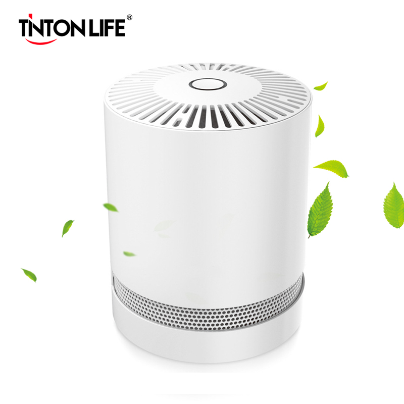 EU Plug DC 12V Air Purifier HEPA Filters For Home And Office Compact Desktop Purifiers Filtration With Night Light Air Cleaner