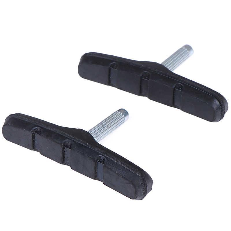 1 para rower MTB hamowania V-uchwyt hamulca hamulec do roweru górskiego i szosowego podkładki gumowe bloki trwałe akcesoria rowerowe