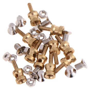 10Pcs Brass Linkage Stopper for 2.1mm Pushrod Connector for RC plane Model Suitable for D1.8/D1.9/ D2.0mm image