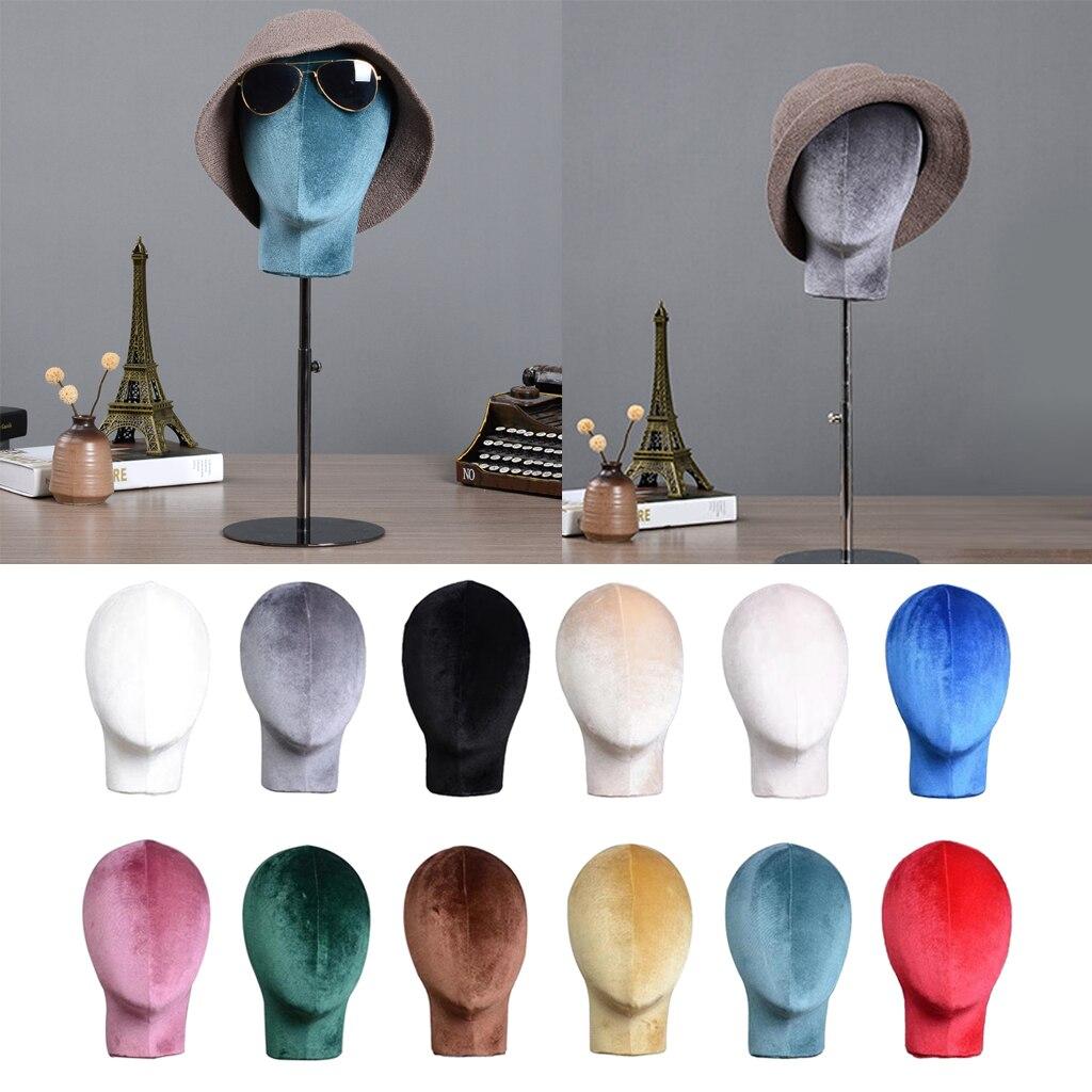Cabeça de Veludo para Perucas Cabeças de Espuma de Isopor Fazem Manequim Expositor Titular Que