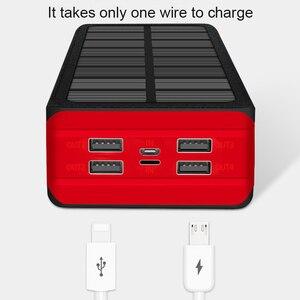 Внешний аккумулятор на солнечной батарее, 99000 мАч, светодиодный внешний аккумулятор большой емкости, внешний водонепроницаемый внешний аккумулятор для Iphone, Samsung, Xiaomi, портативное зарядное устройство|Солнечные элементы|   | АлиЭкспресс