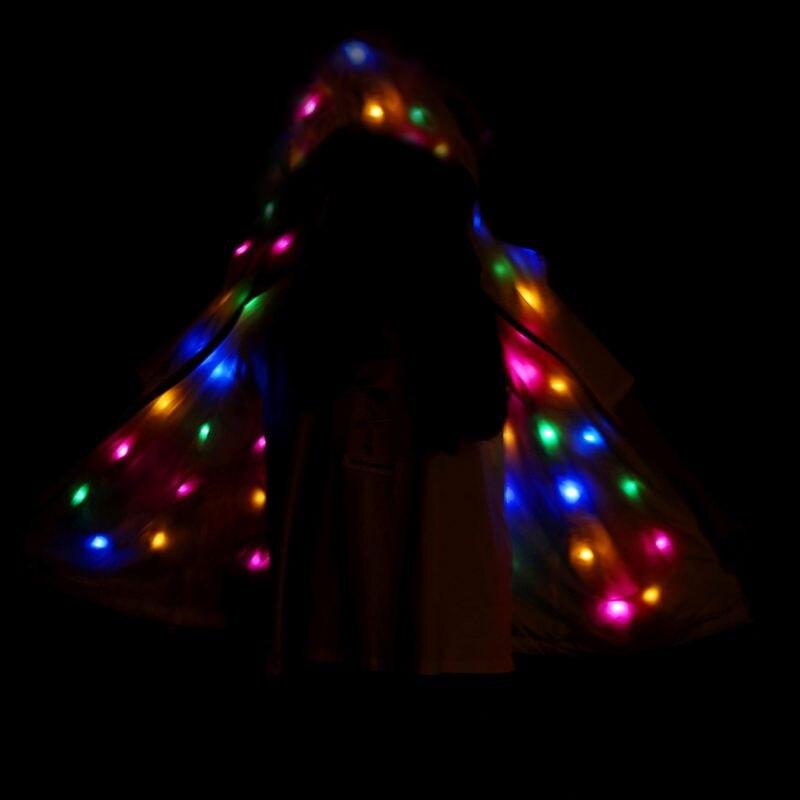 Image 4 - LED vêtements de fête brillant clignotant lumières sans manches décontracté à capuche poches gilet veste manteau Costumes ensemble Parent enfant vêtementsTenues coordonnées pour toute la famille   -