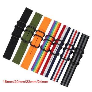 18 мм 20 мм 22 мм 24 мм нейлоновый ремешок для часов Nato Универсальный быстросъемный браслет ремешок для Samsung Galaxy Watch 42 мм 46 мм Active 2