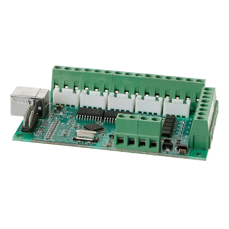 <font><b>CNC</b></font> <font><b>USB</b></font> <font><b>MACH3</b></font> <font><b>100Khz</b></font> Breakout Board 5 Axis Interface Driver Motion Controller image
