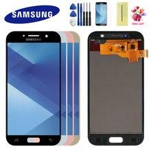 Для Samsung Galaxy A5 2017 LCD A520 SM-A520F ЖК-дисплей сенсорный экран дигитайзер в сборе рамка для A5 2017 A520 ЖК-экран