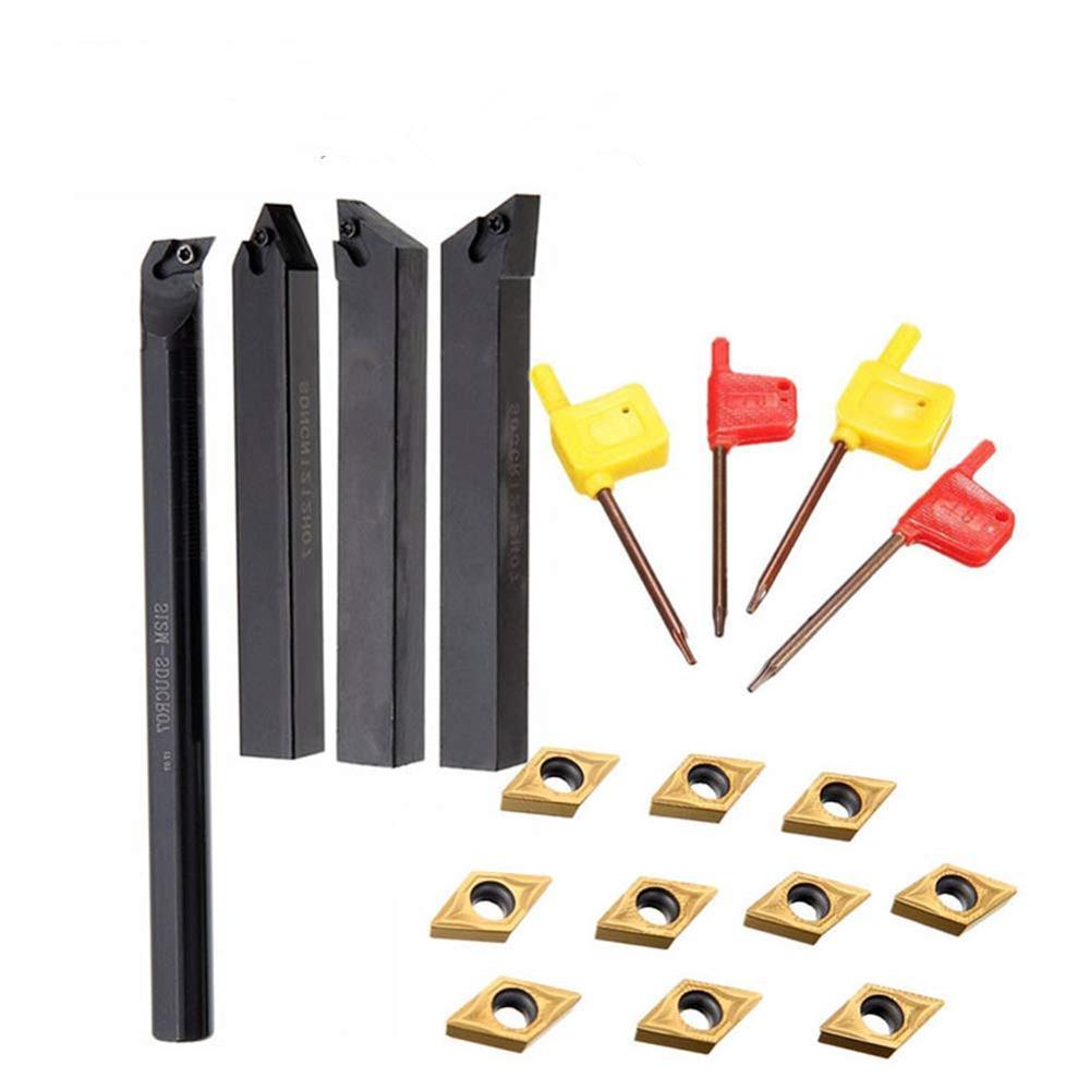 10pcs DCMT070204 DCMT11T304 Carbide Inserts+ External Tool Holder SDJCR1010 SDJCR1212 SDJCR1616 SDJCR2020 SDJCR2525 Lathe Tool
