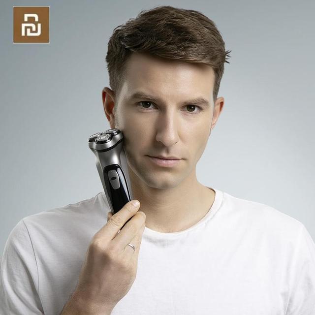 Newest Xiaomi Enchen BlackStone 3D Shaver Razor Machine Beard Washable Type C Rechargeable for Men Gift Smart Control