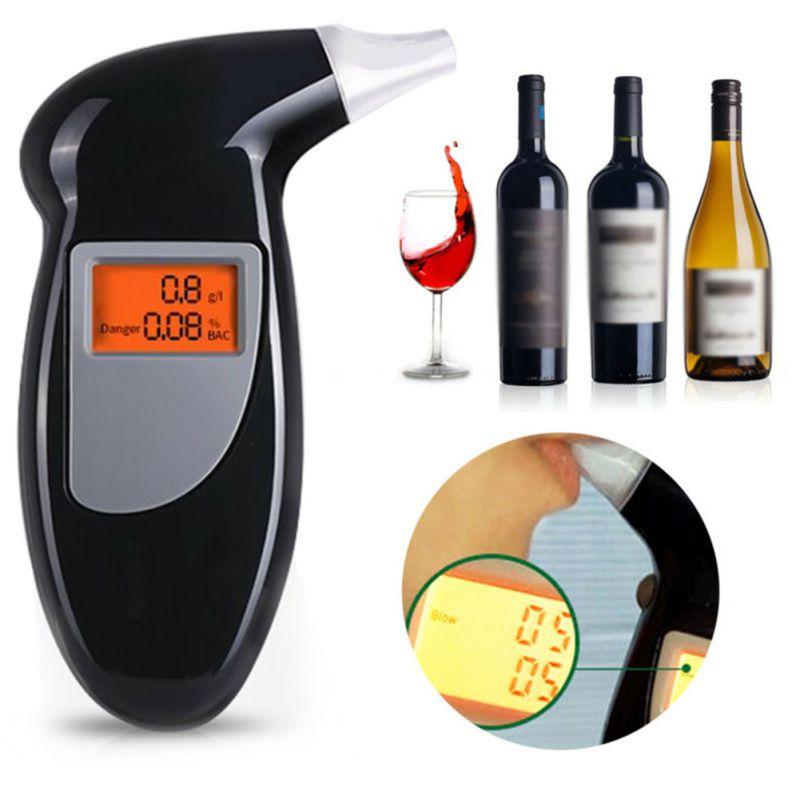 Handheld Alcohol tester alkomat ketone keto meter alcoholimetro digital alcotest breathalyzer LCD Detector Backlight Light