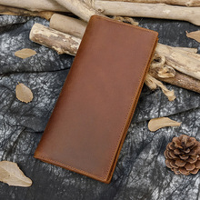 Luufan High Quality Genuine Leather Long Wallet Bifold Men Purse With Photo Coin Business Card Slot Leather Male Wallet Brown цена в Москве и Питере