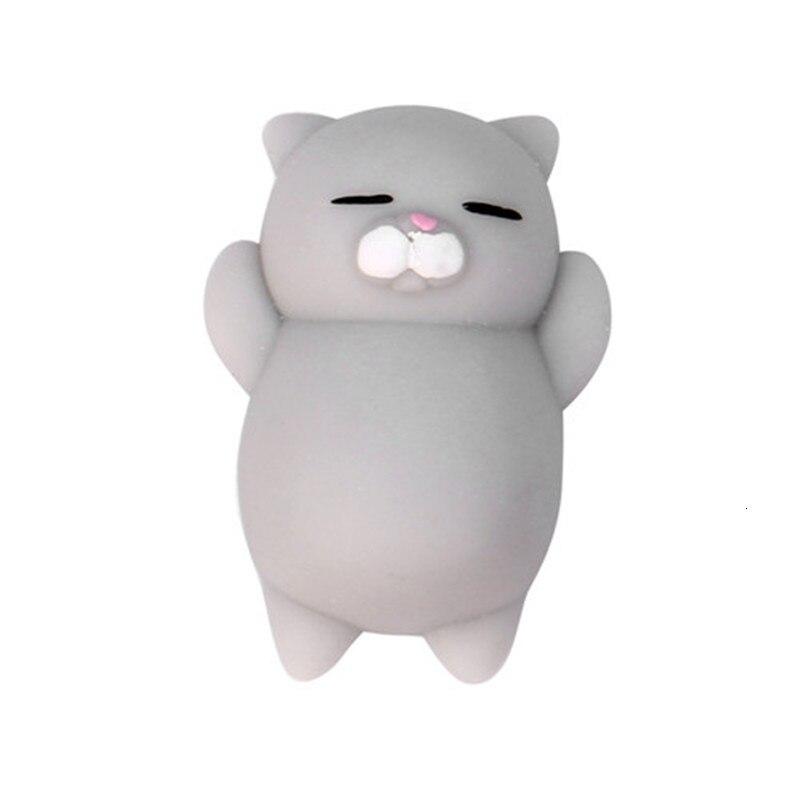 2017 Fashion Mini Kawaii Anti-stress Toys Cute Mochi Squishy Cat Squeeze Healing Fun Kids Kawaii Toy Stress Reliever Decor