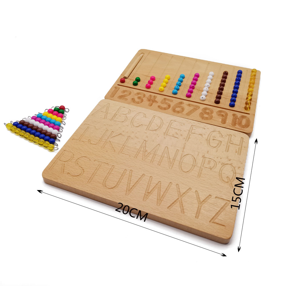 Деревянные материалы Монтессори 0-10 цифр Форма доска для письма ручка доска игрушки Монтессори Обучающие математические игрушки I1166F