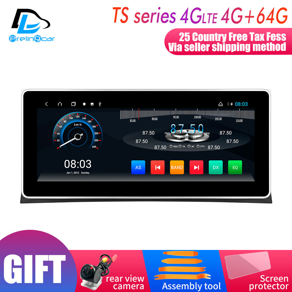 10.25 inch 4G Lte Android 9.0 Car multimedia navigation GPS DVD player For Honda top Accord 8 2008-2013 year screen Radio stereo image
