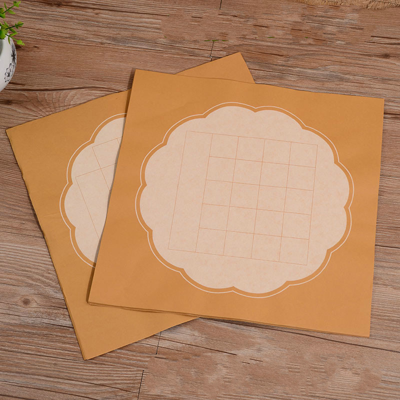 Rice Paper Cards Calligraphy Half-Ripe Pastel Xuan Paper With 20 28 Grids Thicken Calligraphy Competition Paper 40 Sheets