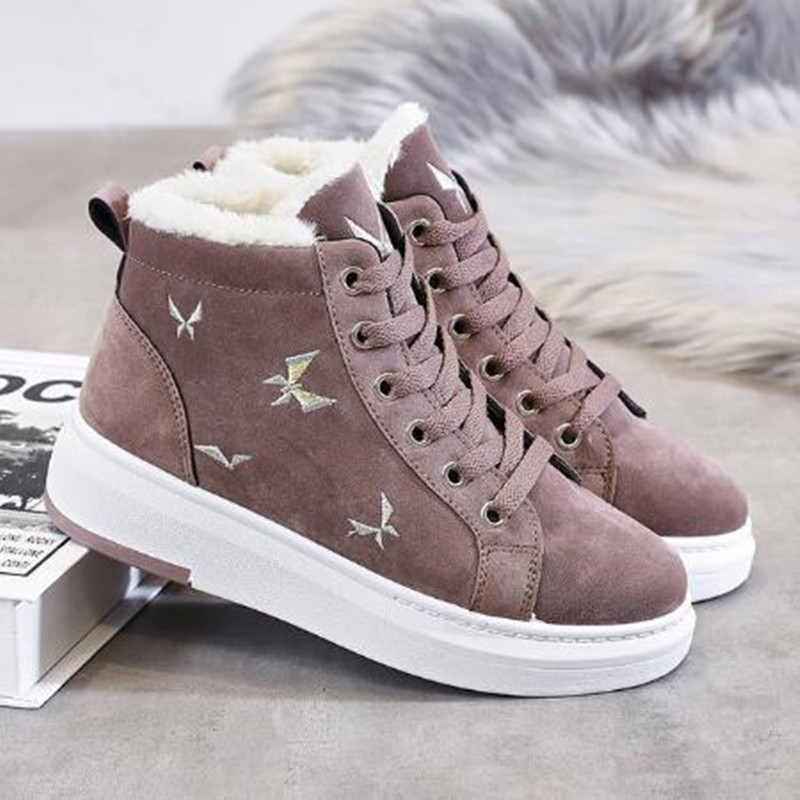 Cotton Shoes Female New Women's Boots Winter Plus Velvet Cotton Shoes Thick Soled Warm Snow Women's Boots Women's Cotton Boots 31