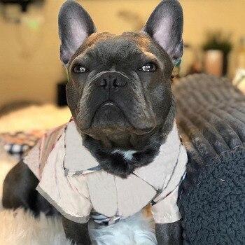 Camisa de perro para perros pequeños Primavera Verano camisa a cuadros para Chihuahua ropa traje para PUG PC0985