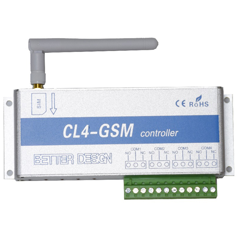4 канала реле CL4-GSM SMS GSM приложение беспроводной контроллер GSM приемник и переключатель ворота/открывания двери оператора для домашней