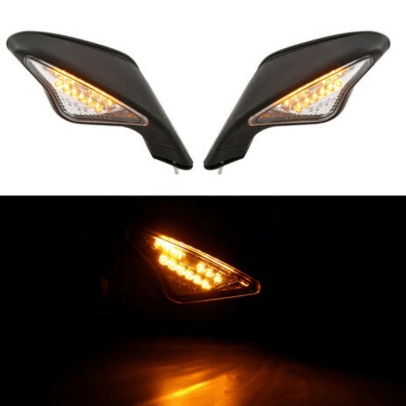 Motorcycle Turn Signal Lights Rearview Mirrors for DUCATI 848 1098 1098S 1098R 1198/S 1198R|Mirror & Covers| |  - title=