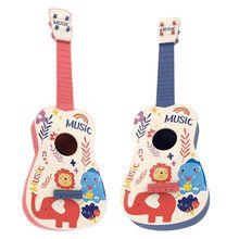 21 Inch Cute Cartoon 4 String Mini Wooden Guitar Kids Educational Ukulele Musical Instrument