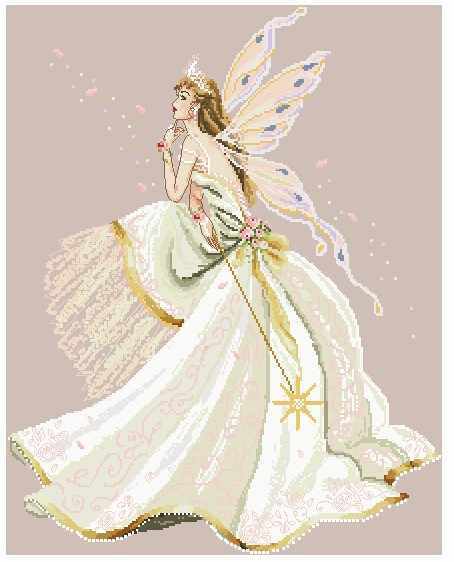 Lovely Counted Cross Stitch Kit The Fairy Queen Goddess with Magic Wand