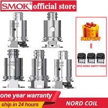 Oryginalny 5 sztuk SMOK Nord wymiana cewki z regularnym 1 4ohm cewki i 0 6ohm cewka z siatki dla SMOK Nord zestaw elektroniczny papierosów tanie tanio SMOK nord coils
