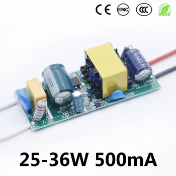 LED Driver 500mA 25W 30W 36w LED Power Supply 600mA AC90-265V Lighting Transformers For LED panel light and LED string lights image