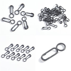 30pcs/lot Safety Connector Pin Matt Black Carp Fishing Terminal Tackle Round Head Carp Fishing Quick Link Clips  Snap