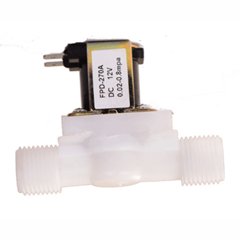 1PC Plastic 12V 24V 220V Electric Magnetic Water Control Valve Solenoid Valve Switch Normally Closed 1/2''