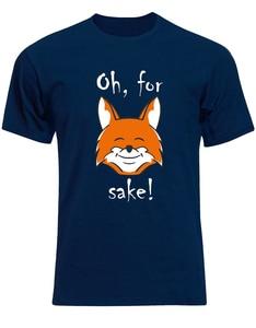 Oh For Fox Sake Funny Quirky Quote Mens Tshirt Tee Top Aj78 Digital Printed Tee Shirt(China)