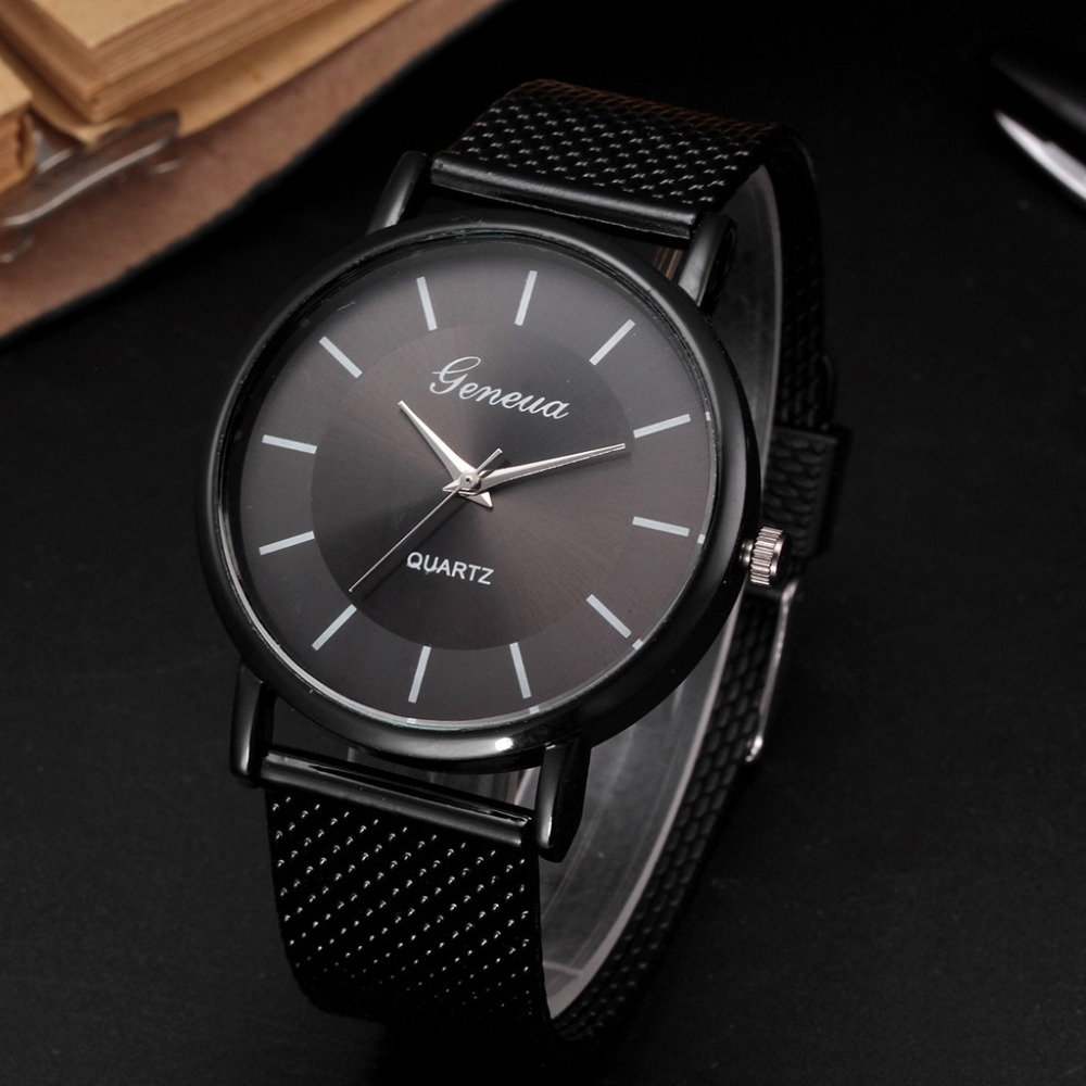 Business Watch Wrist Watch Men Simple Style Mesh Belt Men Women Unisex Quartz Watches Relogio Masculino Watch Women Reloj Mujer