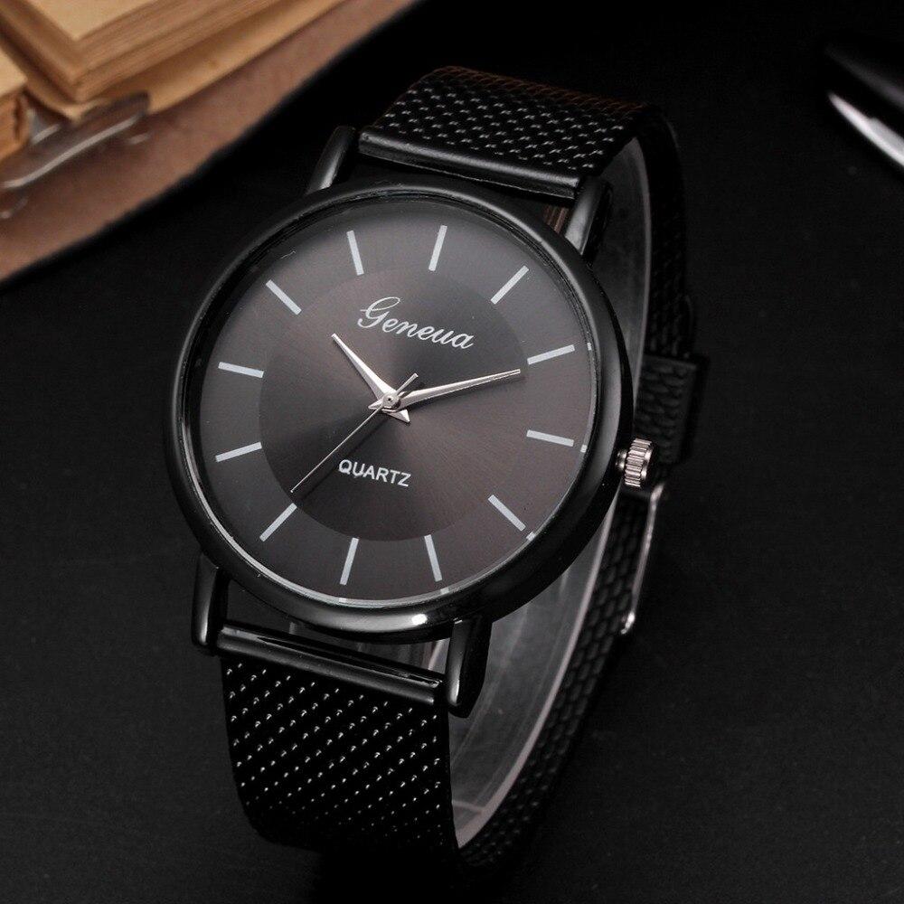 Business Watch Wrist Watch Men Simple Style Mesh Belt Men Women Unisex Quartz Watches Relogio Masculino Watch Women Reloj Mujer