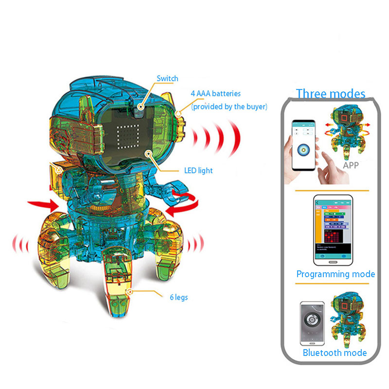 Solar Educational Toys  APP Bluetooth Programming  Science Intelligence DIY Assemble Gnail Gorilla Music Flowerpot Robot Gift 3