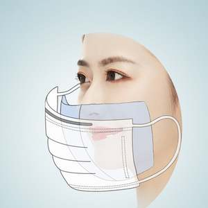 Disposable Face Covers 3-Ply Safety and Breathable Mouth Covers for Personal Health Air Pollution with Blue Colors