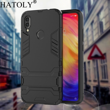 HATOLY Armor Case Xiaomi Redmi 7 Shockproof Robot Silicone Rubber Hard Back Phone Cover For 6.26
