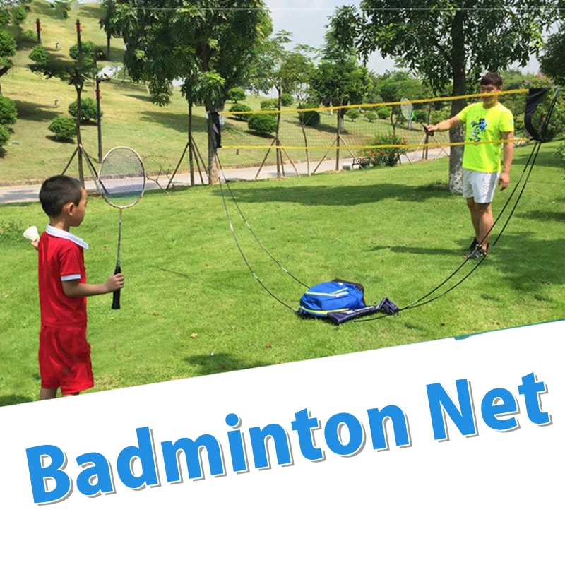 60CM Portable Badminton Net Frame Tennis Volleyball Training Square Mesh Net Indoor Outdoor Shuttlecock Network Badminton