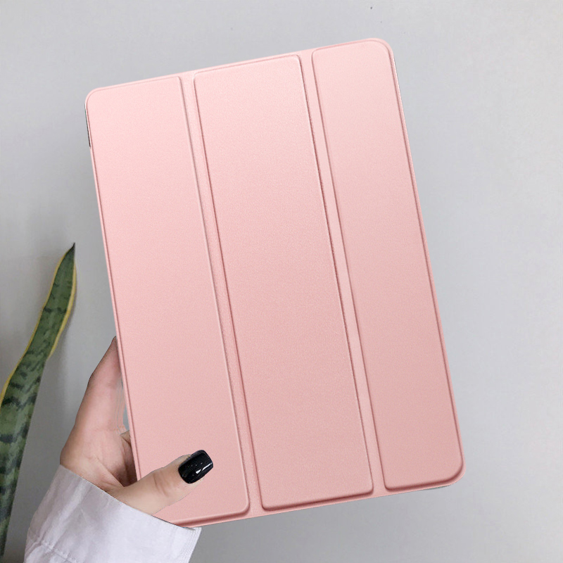 Rose Gold Red Funda iPad 10 2 inch 2020 PU Leather Tri fold Shockproof Case For Apple iPad 8th