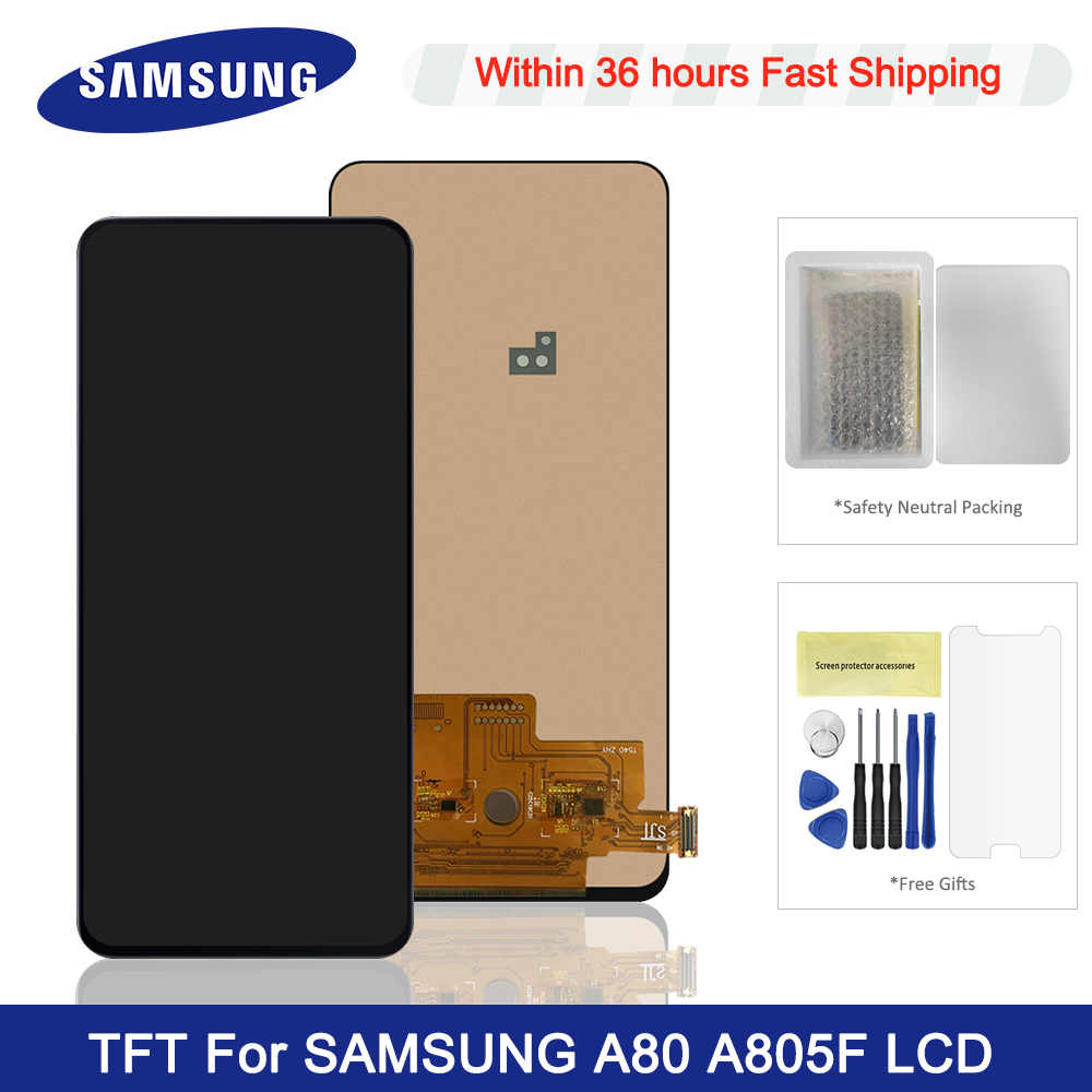 TFT For <font><b>Samsung</b></font> <font><b>Galaxy</b></font> <font><b>A80</b></font> <font><b>LCD</b></font> SM-A805 A805 A805F Display Touch Screen Digitizer Assembly Replacement For <font><b>Samsung</b></font> <font><b>A80</b></font> LCDs image
