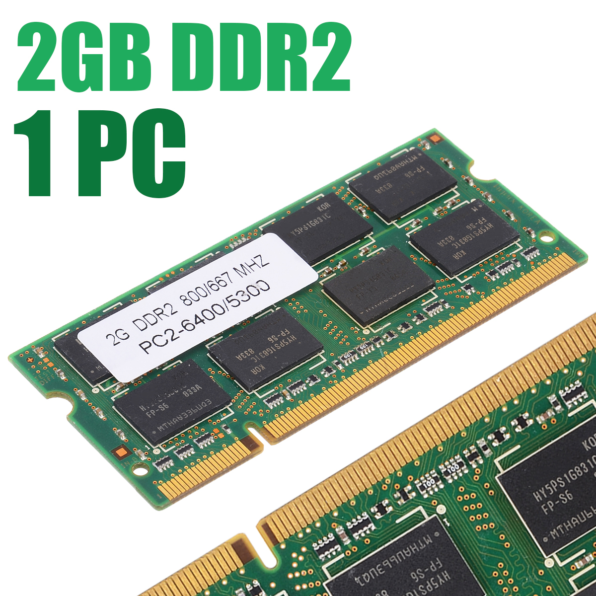 800/667Mhz 2GB DDR2 Memory Low-Density 200pin Notebook Memory PC2 6400/5300 Laptop RAM For Dell Sony Toshiba 1.8V CL5