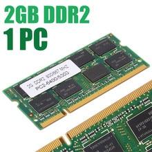 Memória ram ddr2 de 800/667mhz, memória de baixa densidade 200pin notebook pc2 6400/5300 laptop ram para dell sony toshiba 1.8v cl5